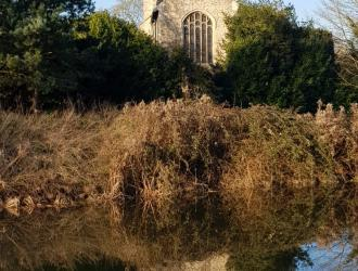Bramford Church from the river