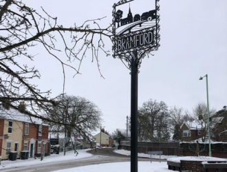 Village Sign winter2021